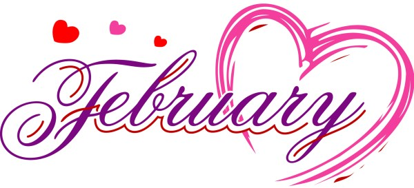 february calendar heading clipart