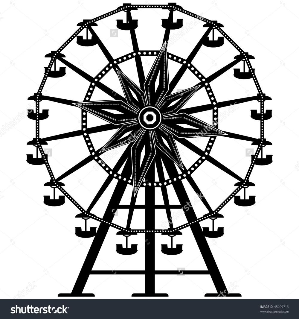 medium resolution of vintage ferris wheel clipart