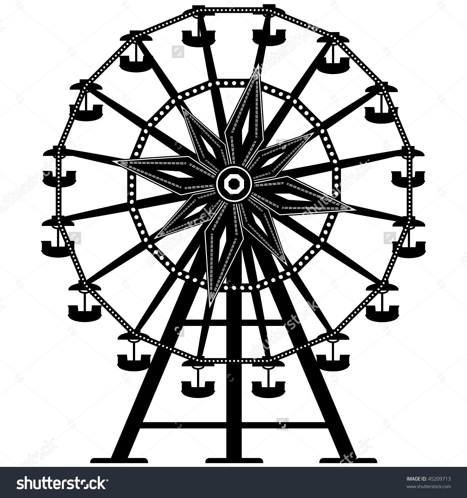 hight resolution of vintage ferris wheel clipart