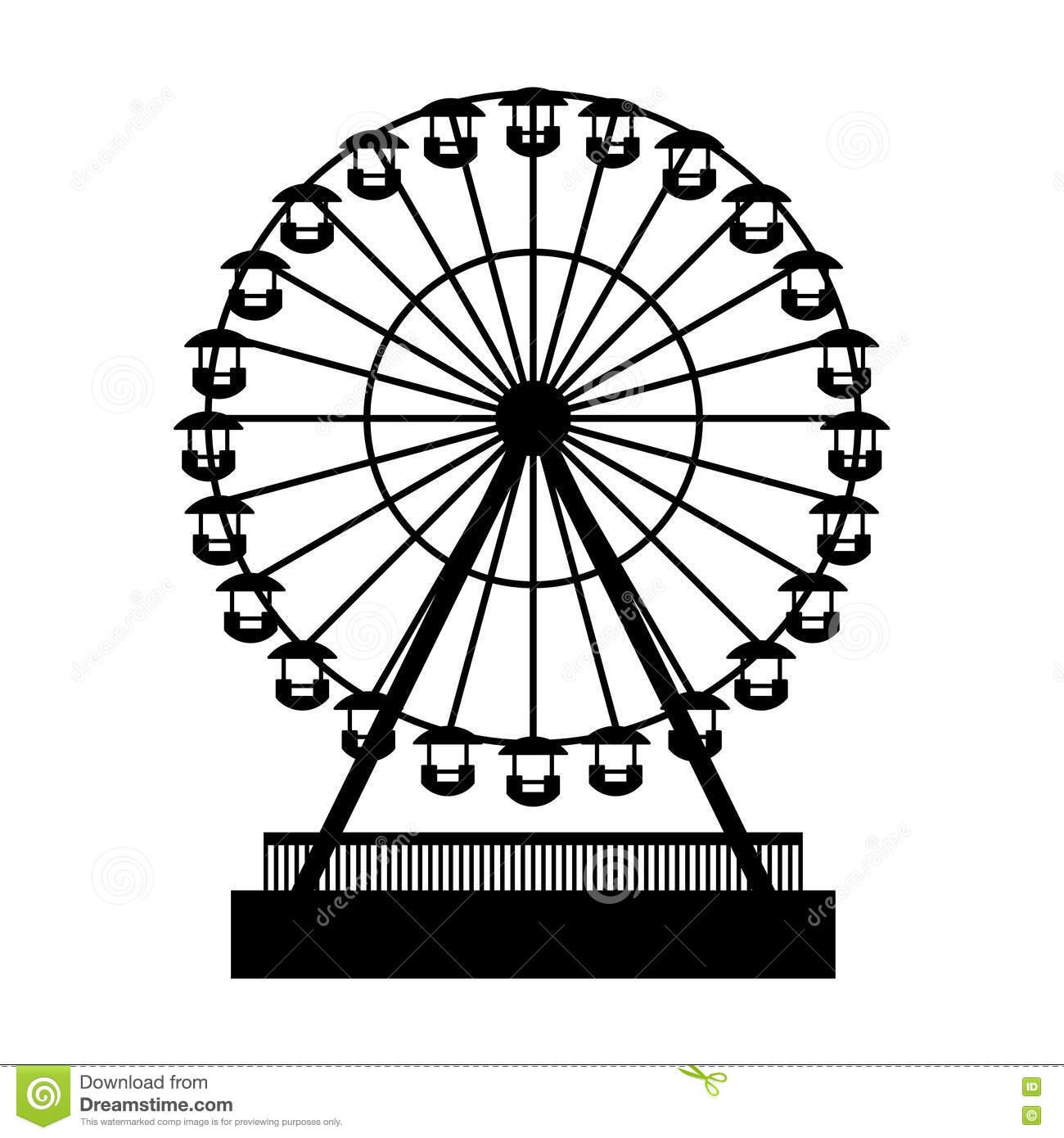 Ferris Wheel Clipart Vector