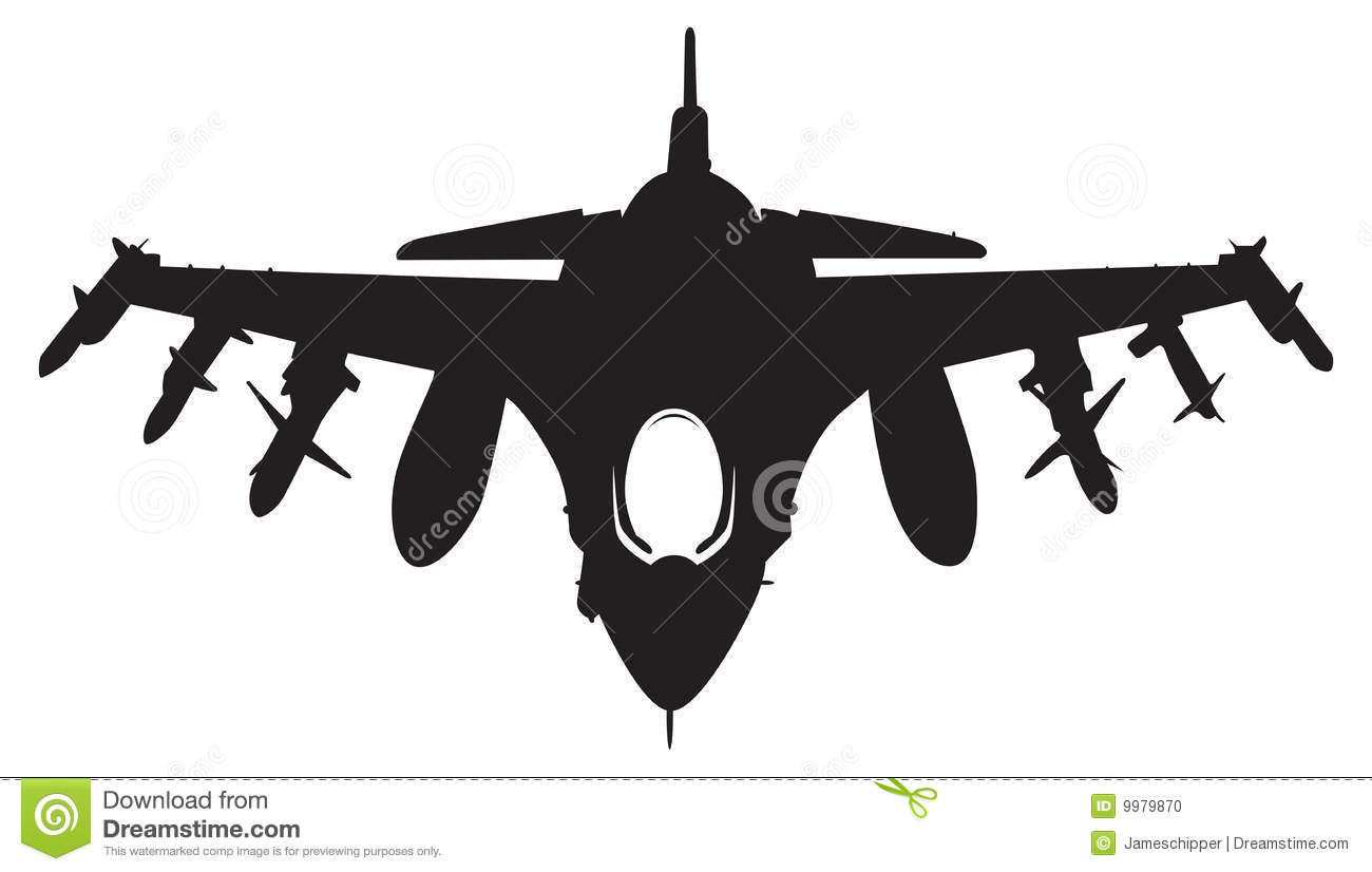 hight resolution of fighter aircraft clipart