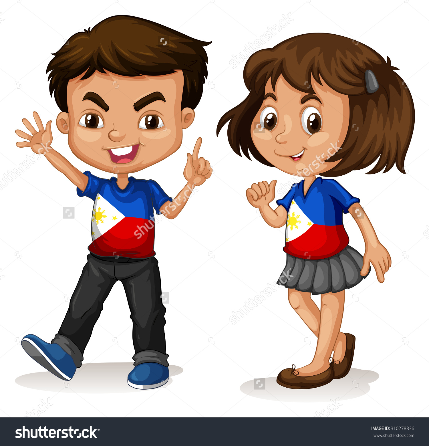 Cute Girl And Boy Animated Wallpaper Filipino Girl Clipart 20 Free Cliparts Download Images