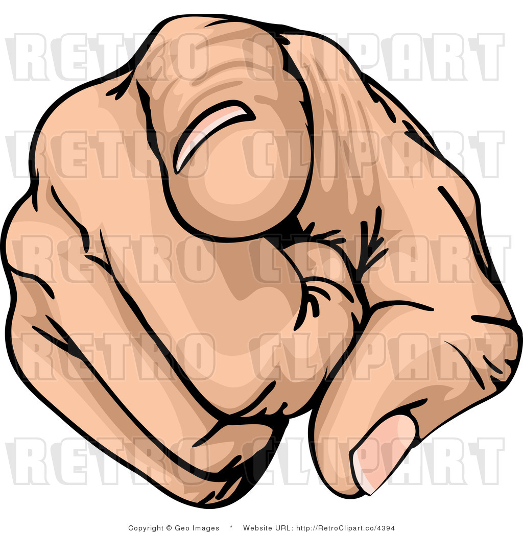 hight resolution of pointing finger clip art