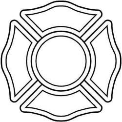badge fire outline clipart cross firefighter maltese stencil clipground cut file honor