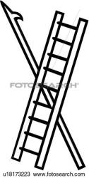 fire clipart ladder department dept clip pike emergency tool brigade vector services service fotosearch clipground illustration