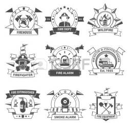 fire vector department clipart label rescue firefighter clip illustration service brigade protection physics smoke shield icons isolated royalty clipground fireman