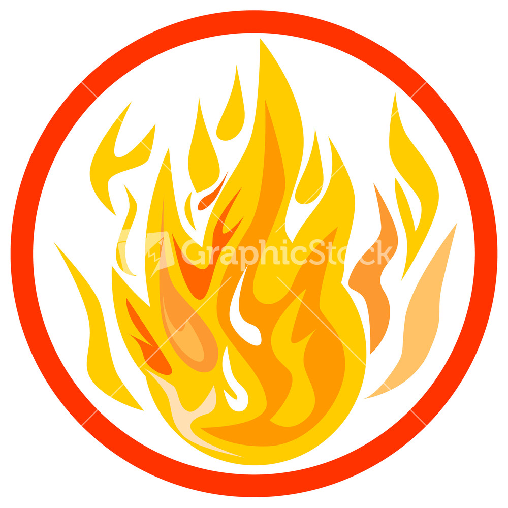 hight resolution of fire inside circle