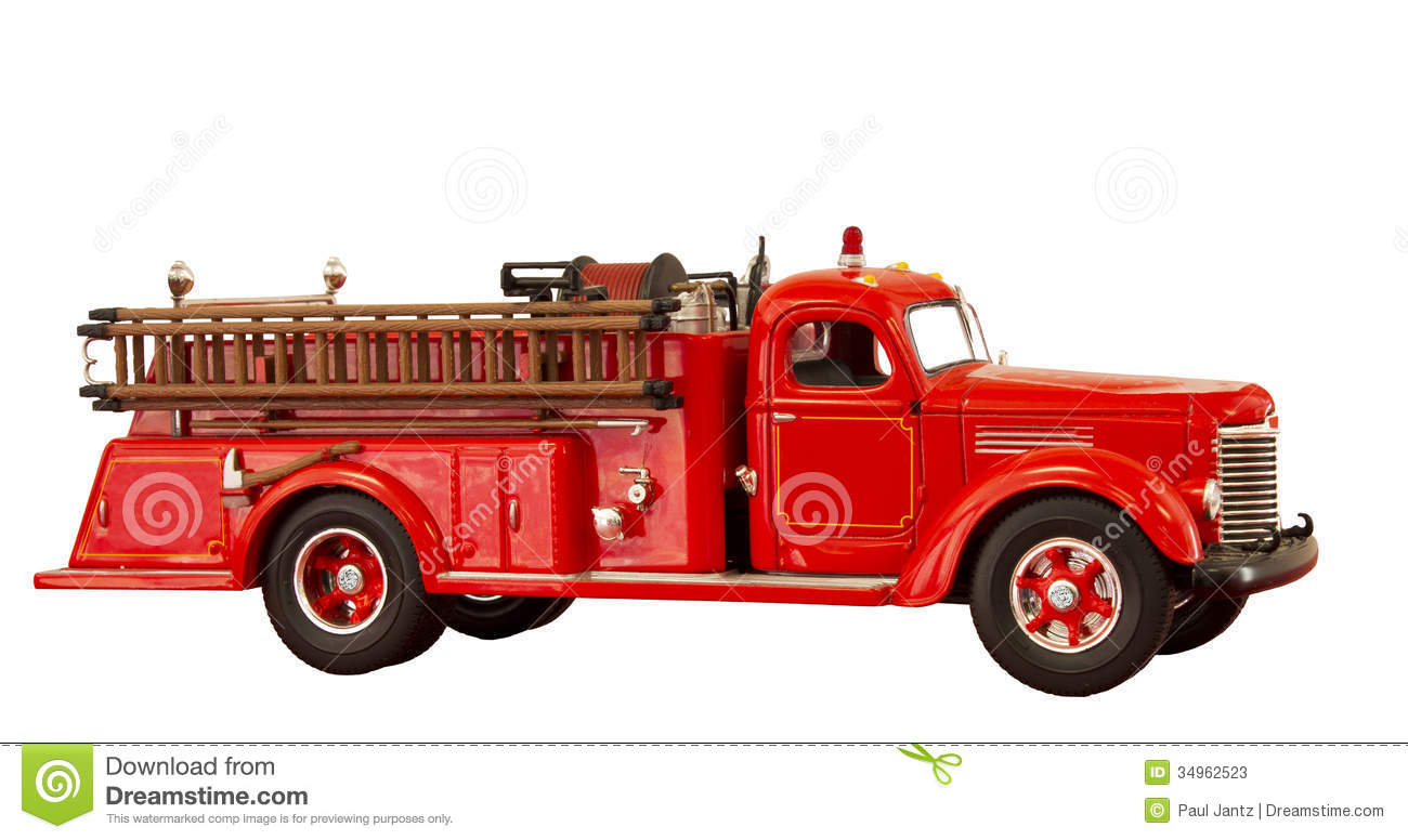 hight resolution of vintage fire truck clipart