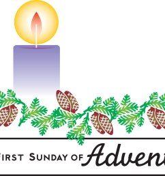 1st sunday in advent clipart  [ 1391 x 1349 Pixel ]