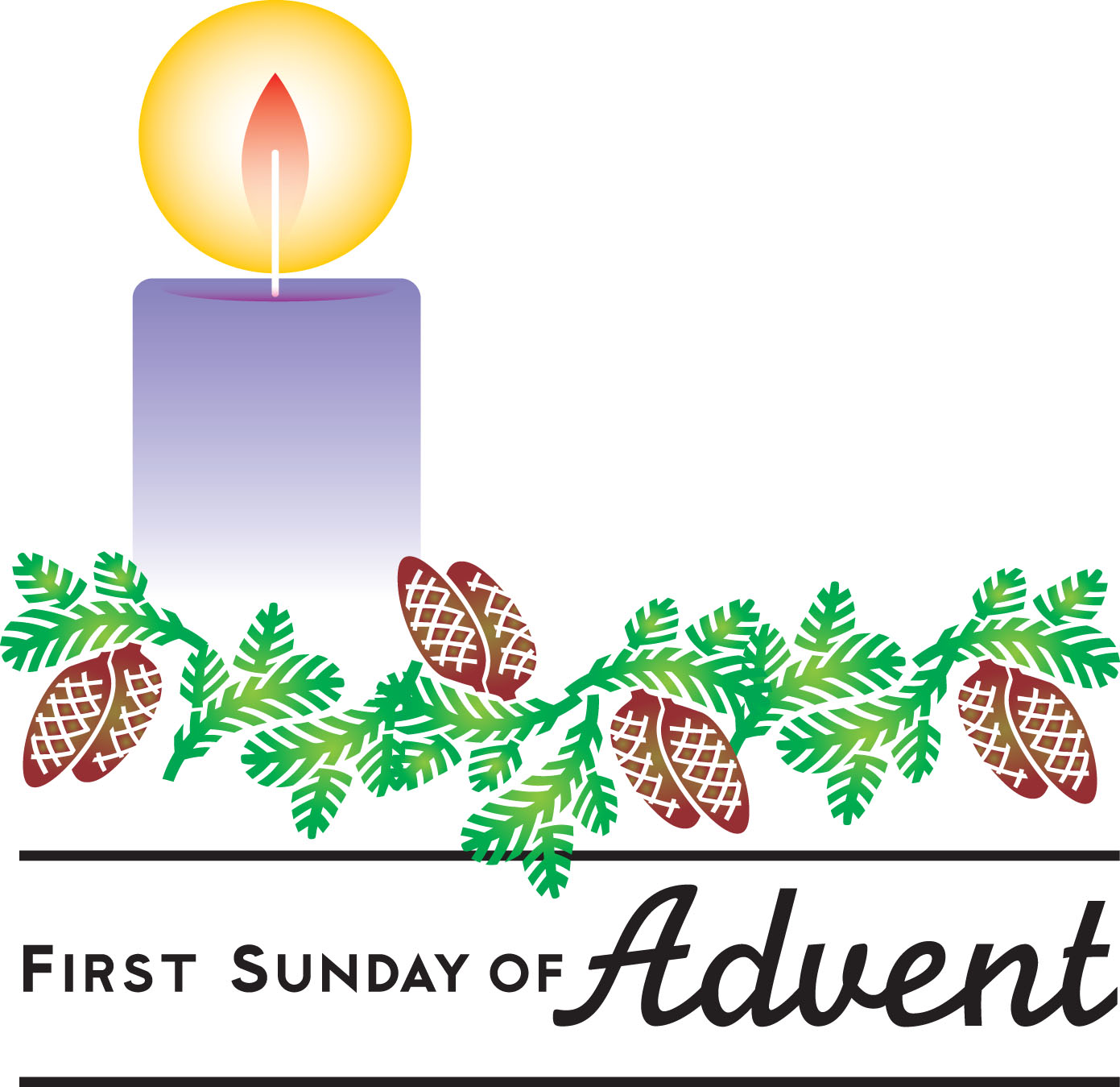 hight resolution of 1st sunday in advent clipart