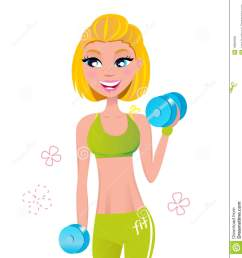 girl workout clipart  [ 1271 x 1300 Pixel ]