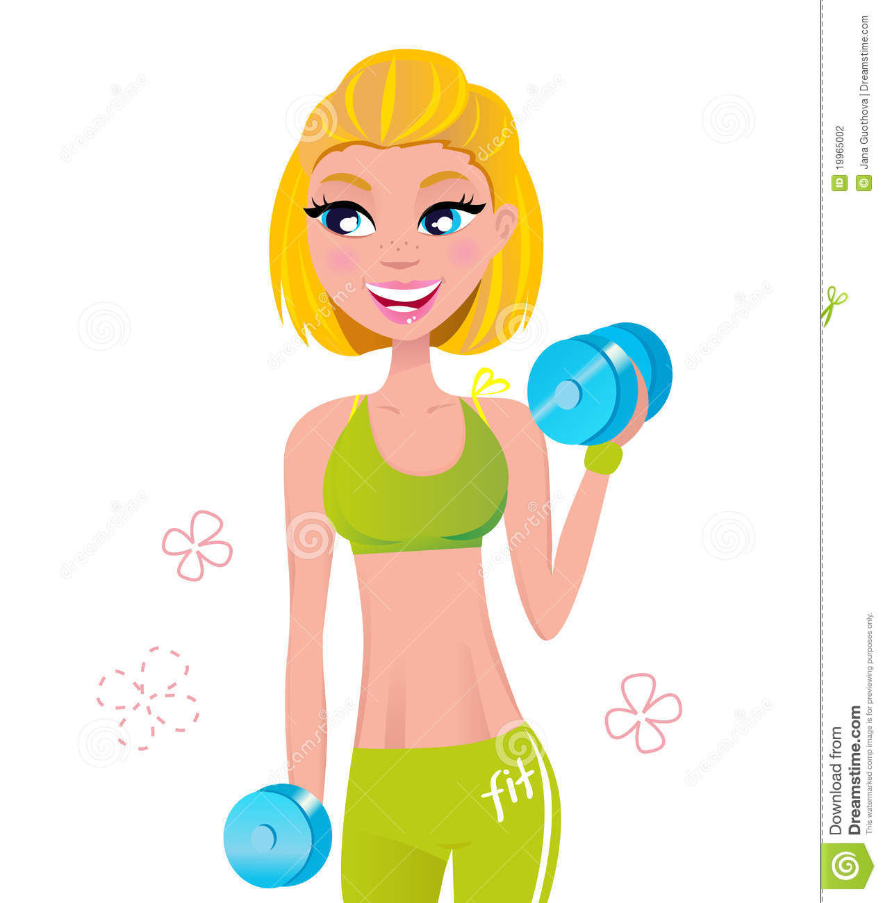 hight resolution of girl workout clipart