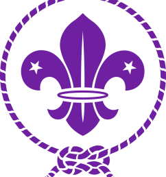 the world scout emblem of the world organization of the scout movement elements of which are used by most national scout organizations the fleur de lis [ 887 x 1024 Pixel ]
