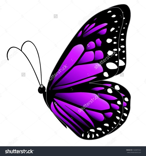 small resolution of illustration purple butterfly flying on white stock vector