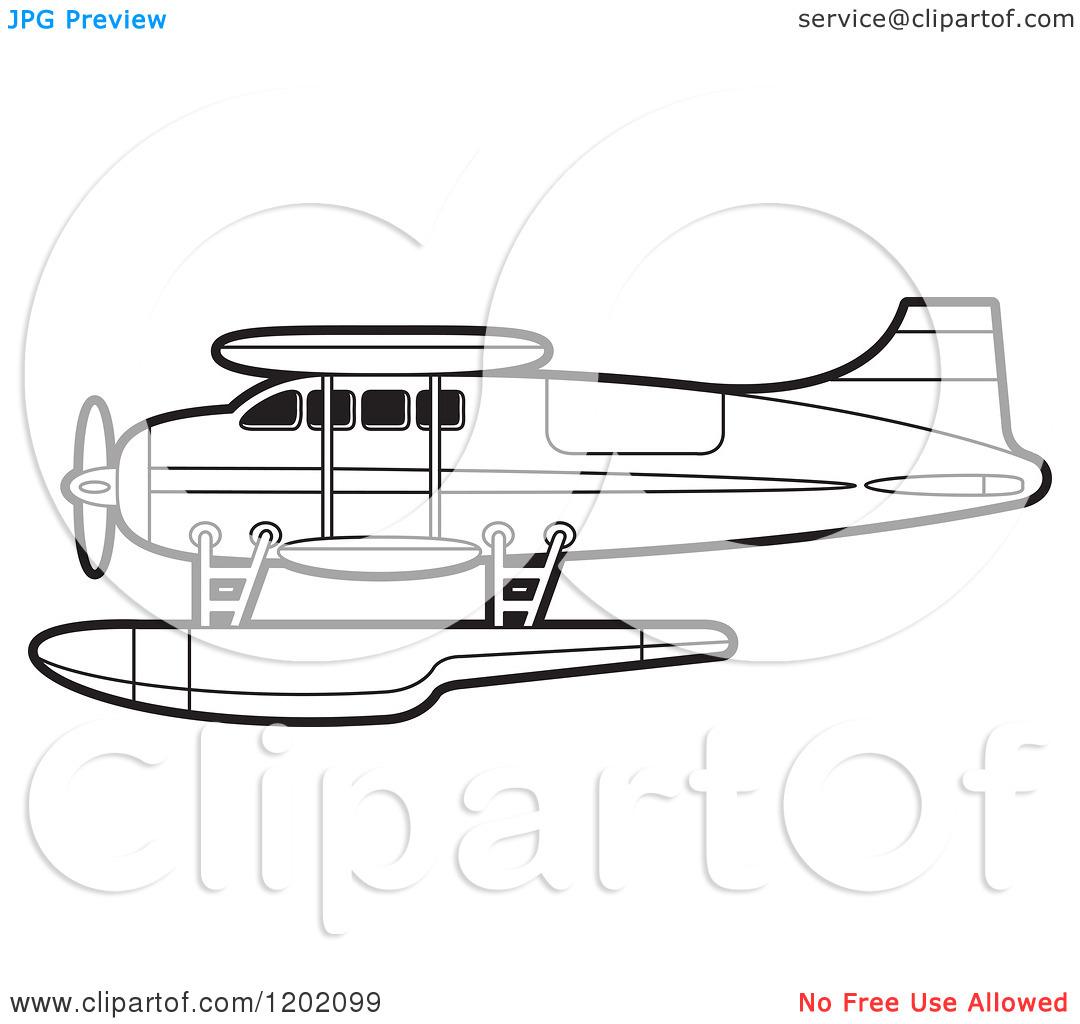 Sea Plane Clipart
