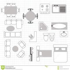 Kitchen Chair Design Plans Office Glides Clipart Furniture Floor Plan Clipground