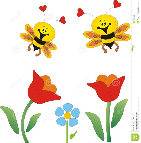 flower bee clipart - clipground