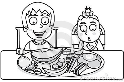 food clipart images black and white 20 free Cliparts