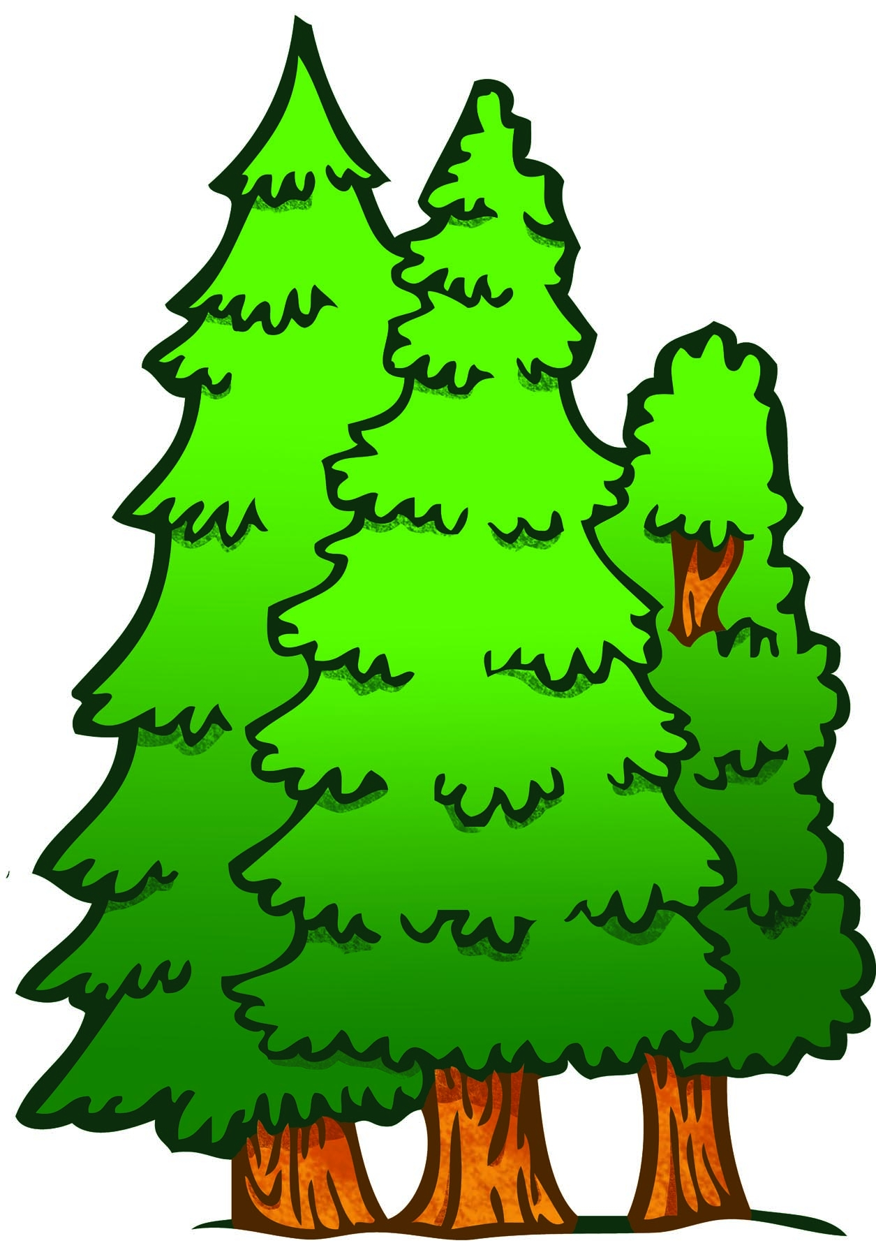 Forest trees clipart  Clipground