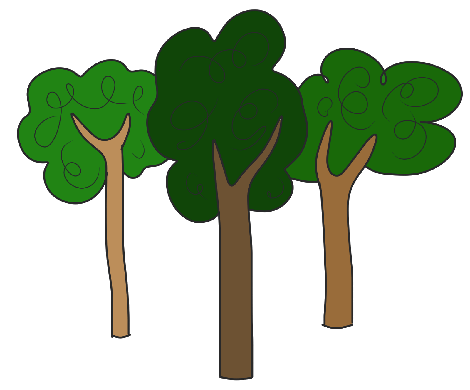 Forest tree clipart  Clipground