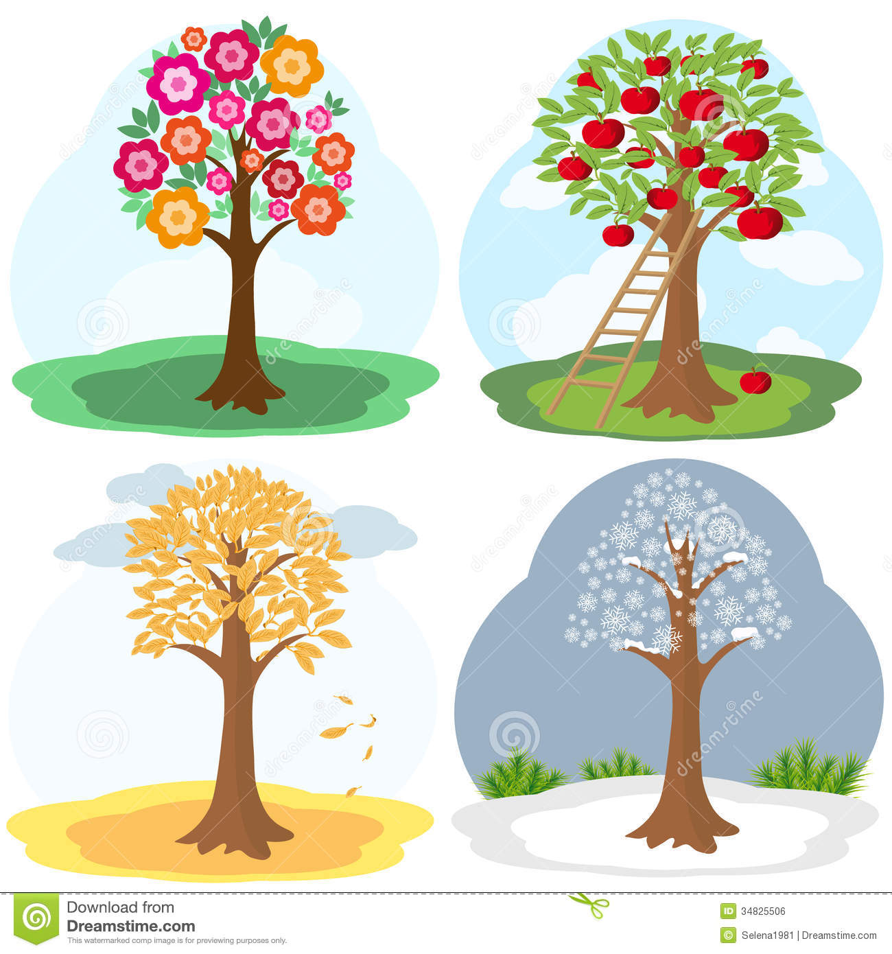 Four Seasons Clipart 20 Free Cliparts