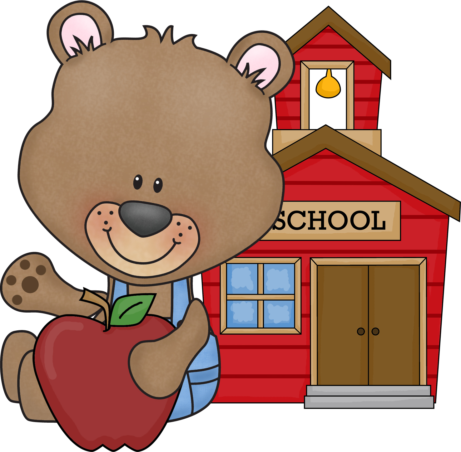 hight resolution of free back to school bear clipart for teachers