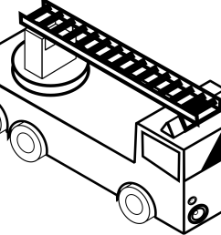 fire truck clipart black and white  [ 1969 x 1566 Pixel ]