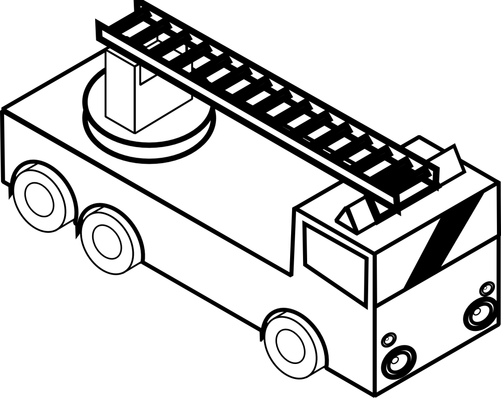 medium resolution of fire truck clipart black and white