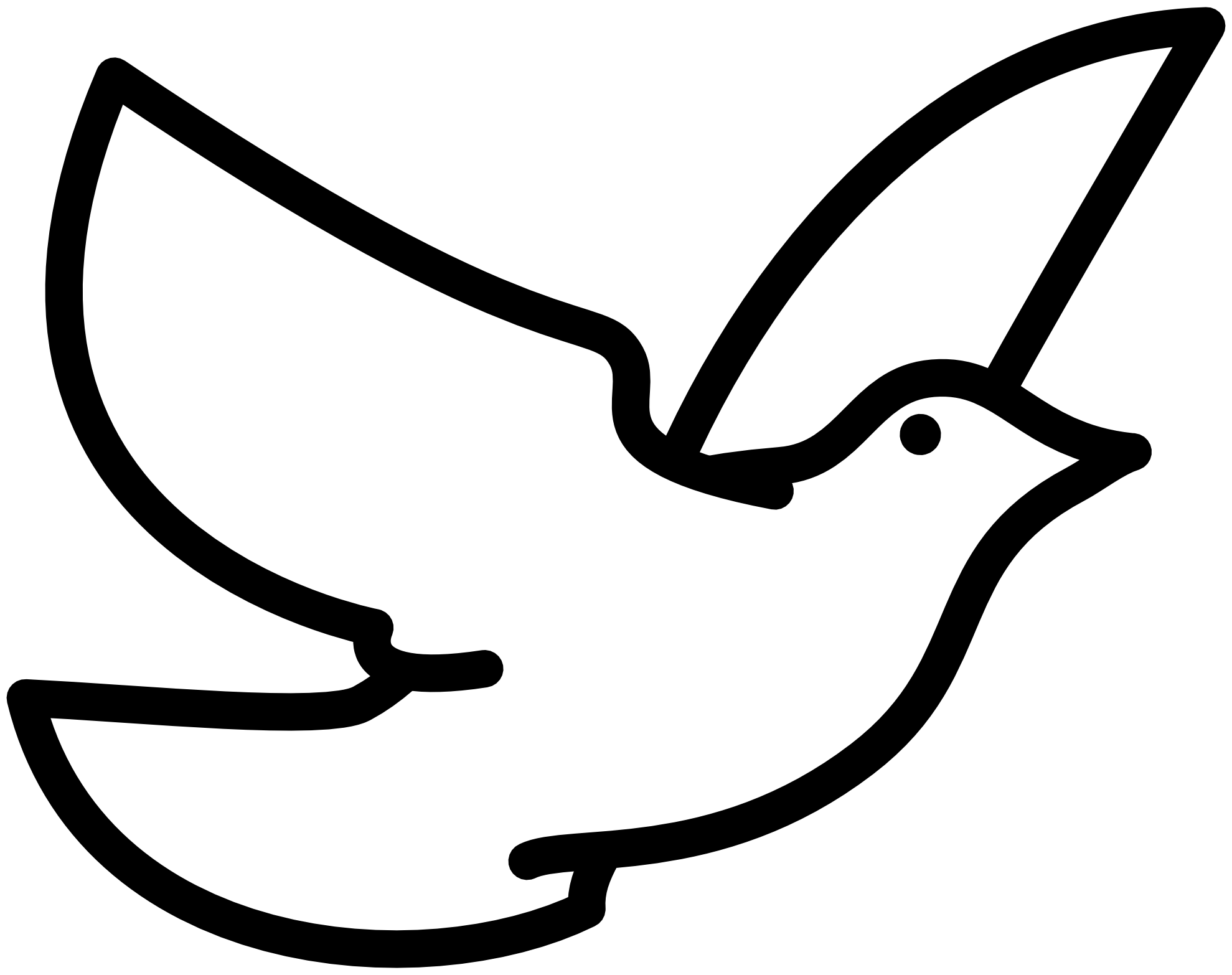 free black and white large print religious dove of peace