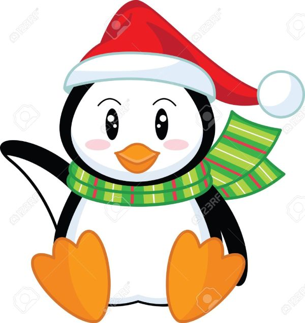 penguin christmas clipart - clipground