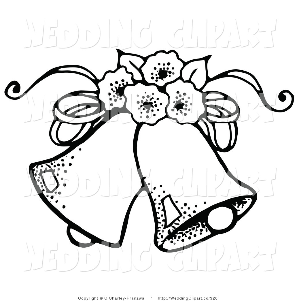 Free Wedding Clipart Black And White Bells And Hearts 20