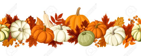 free clip art fall leaves pumpkins