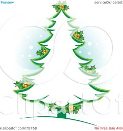royalty free rf clipart illustration of a green christmas tree outline with holly by lal perera [ 1080 x 1024 Pixel ]