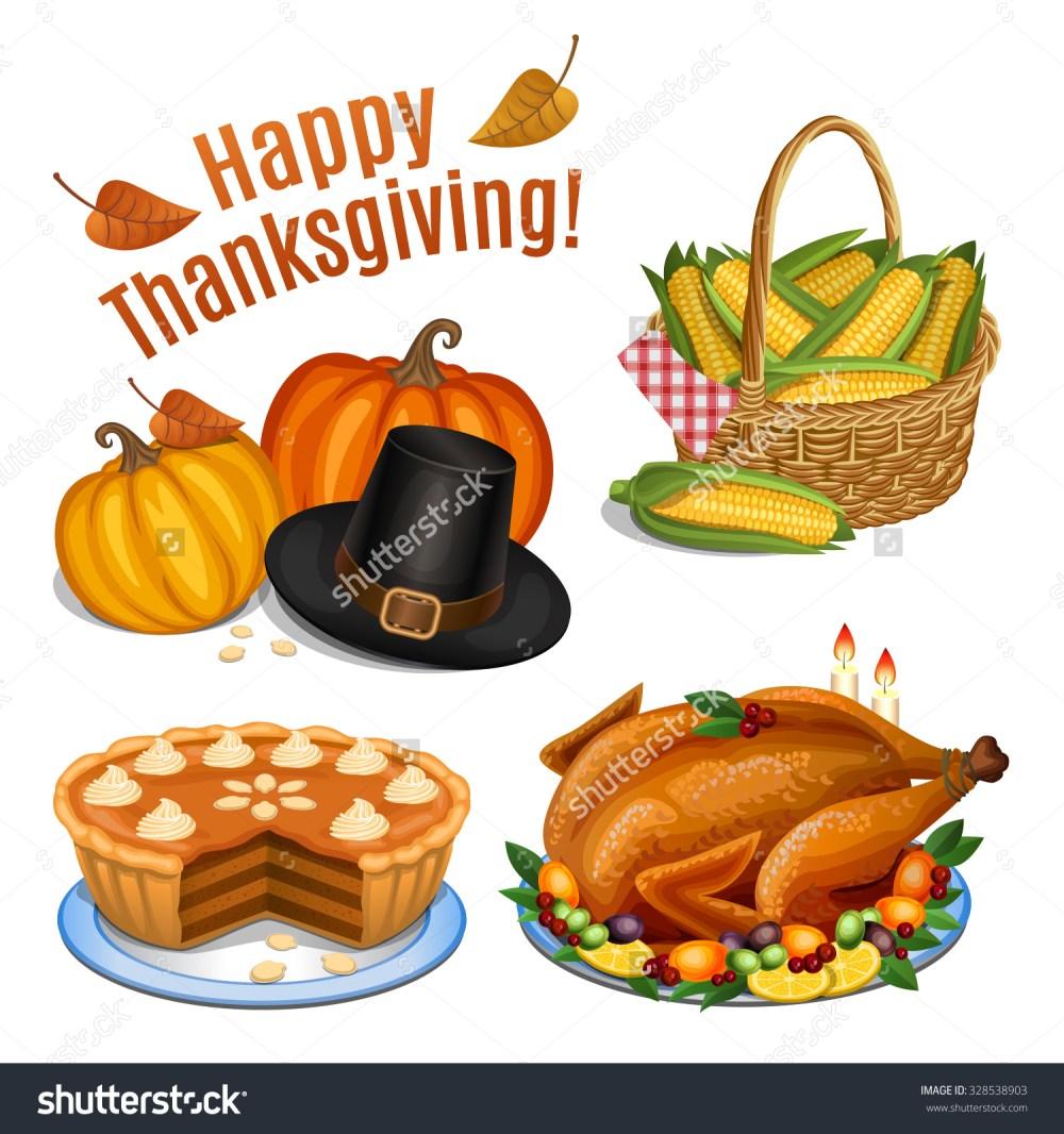 medium resolution of set cartoon icons thanksgiving dinner roast stock vector 328538903