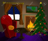 free clipart of fireplace and xmas tree - Clipground