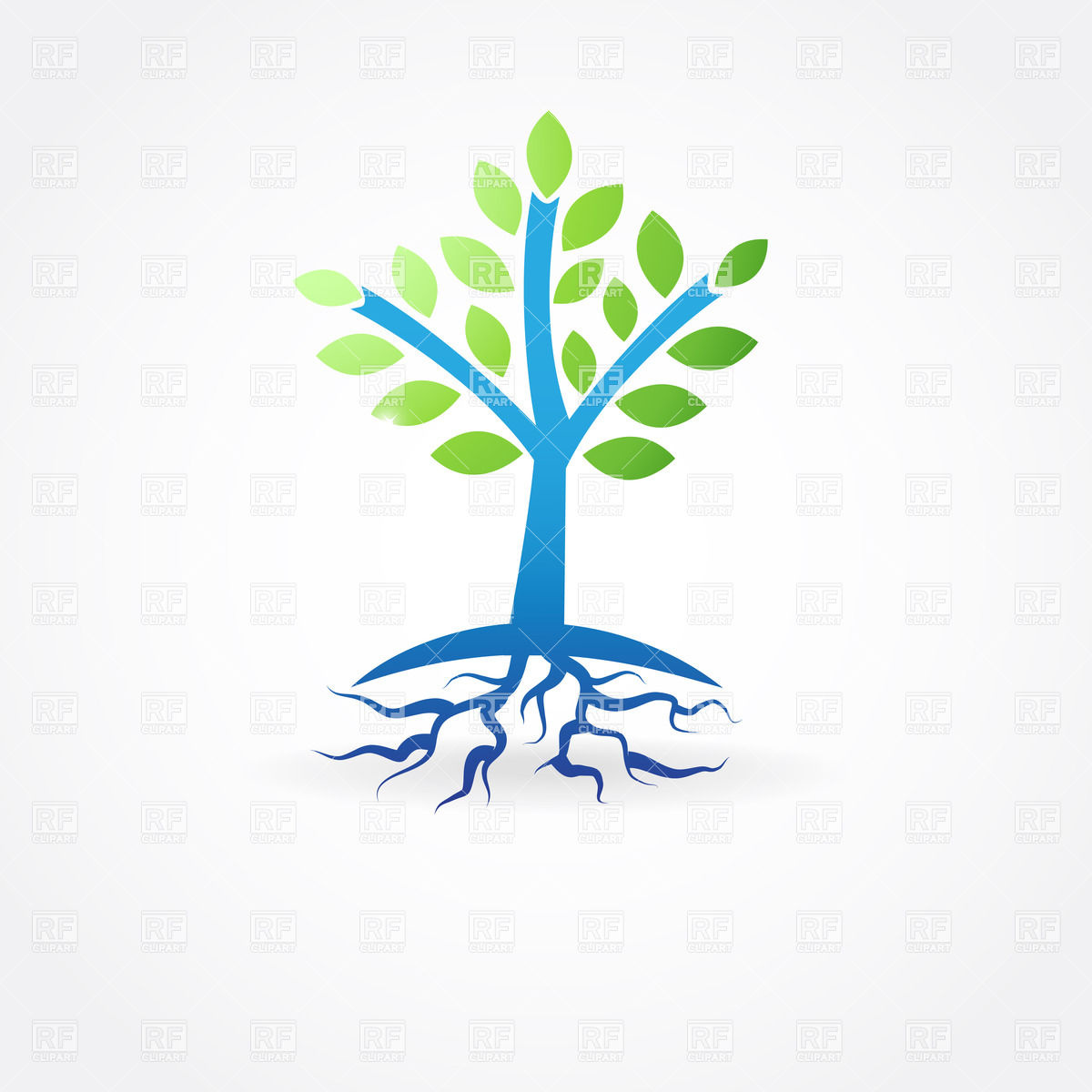 hight resolution of simple spring tree with roots vector image 22061