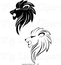 lioness clipart black and white  [ 1024 x 1044 Pixel ]