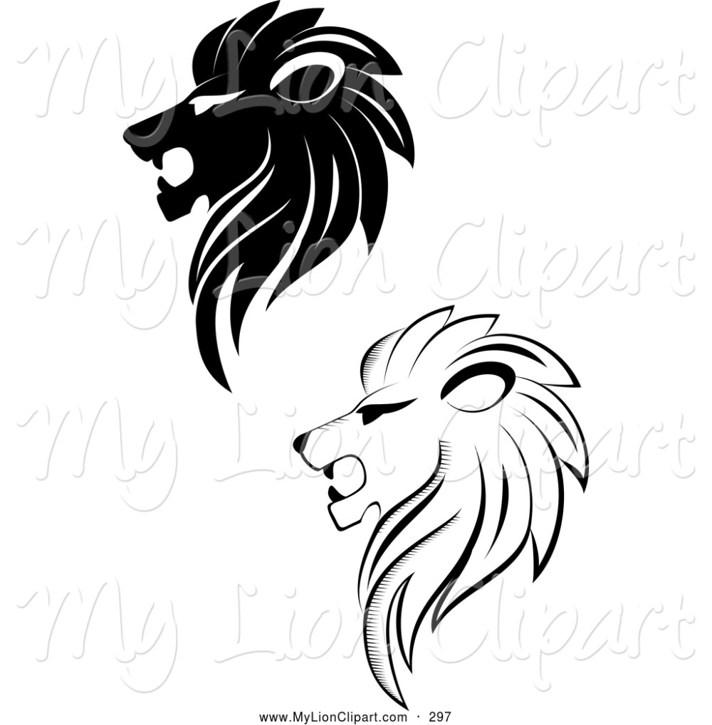 medium resolution of lioness clipart black and white