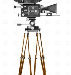 vintage movie camera clipart  [ 814 x 1200 Pixel ]