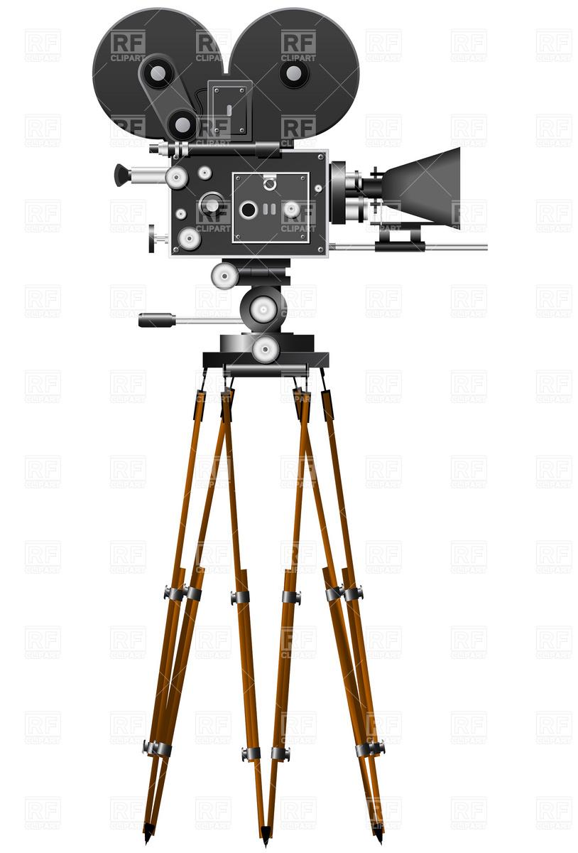 hight resolution of vintage movie camera clipart