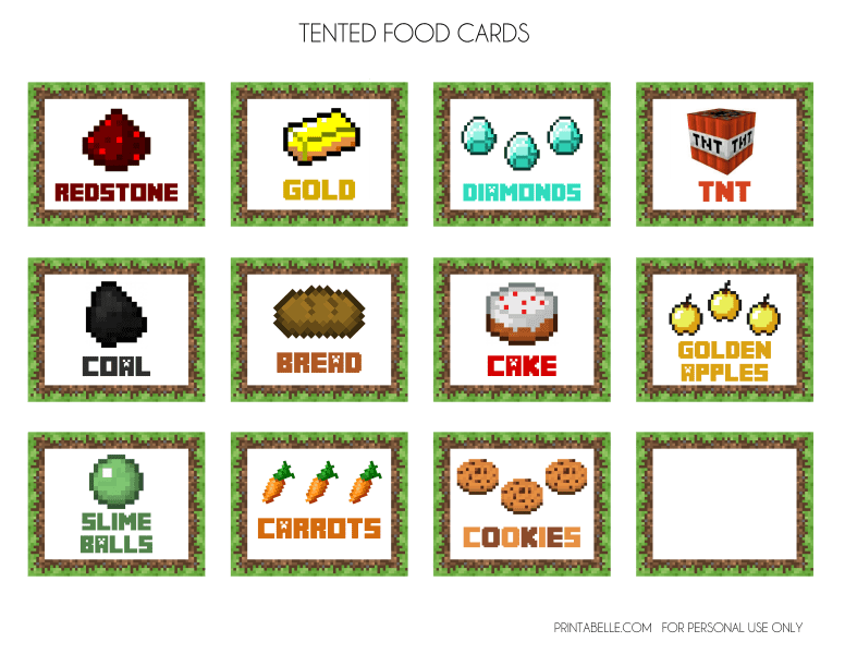 Minecraft Food Clip Art