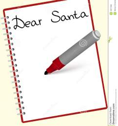 santa letter clipart free  [ 1065 x 1300 Pixel ]