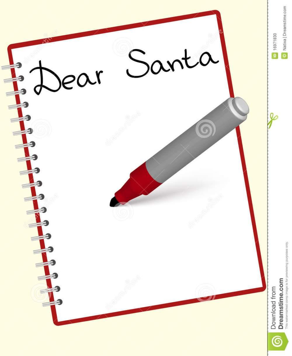 medium resolution of santa letter clipart free