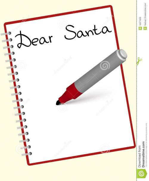 small resolution of santa letter clipart free