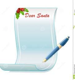 santa letter clipart free  [ 1332 x 1300 Pixel ]