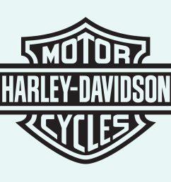 harley davidson motorcycle free vector art  [ 1400 x 980 Pixel ]