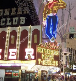neon cowboy on fremont street las stock photo 564107  [ 1125 x 1600 Pixel ]