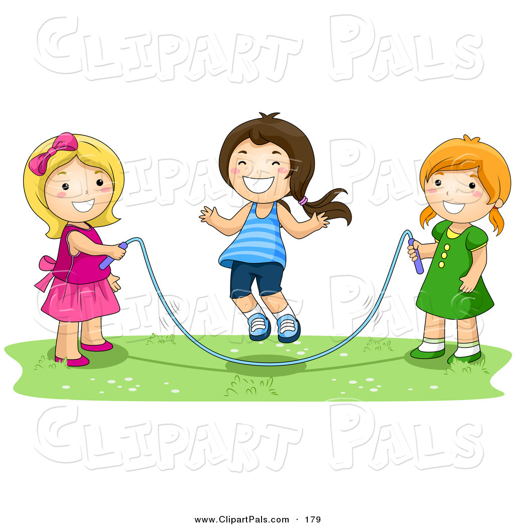 hight resolution of playing with friends clipart
