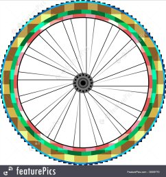transportation front wheel of a mountain bike background vector  [ 1300 x 1382 Pixel ]
