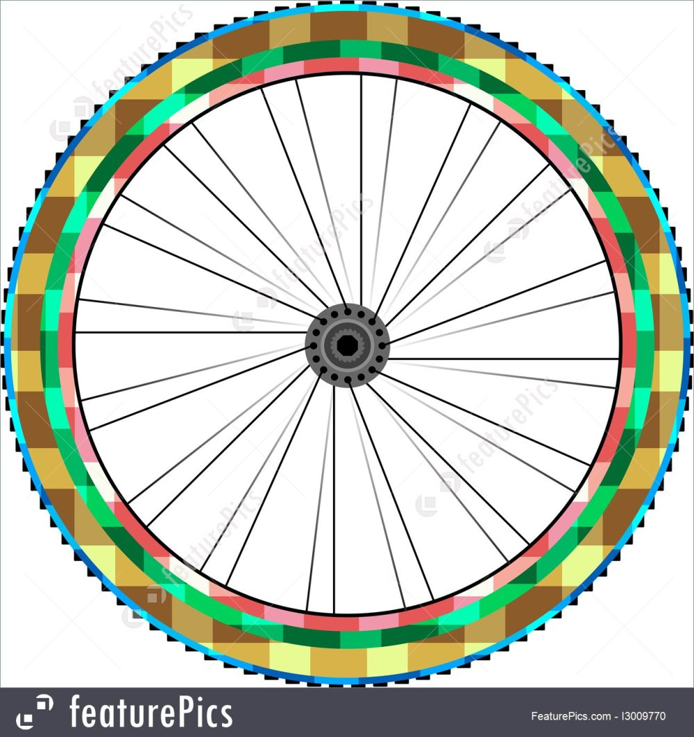 medium resolution of transportation front wheel of a mountain bike background vector